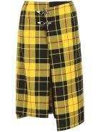 Rokh Tartan Skirt - YELLOW (Yellow)