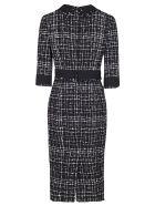 Dolce & Gabbana Black And Grey Cotton-wool Blend Dress - Black grey
