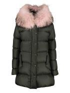 Mr & Mrs Italy Fur Hood Down Jacket - green