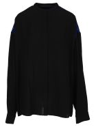 Haider Ackermann Contrast Panel Shirt - BLACK - BLUETTE