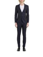 Tagliatore Bruce Pinstriped Suit - Blu