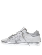 Golden Goose 20mm Super Star Leather Sneakers - White/silver