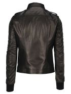 Rick Owens Rotterdam Leather Jacket - BLACK