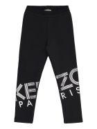Kenzo Kids Logo Print Sweatpants - black