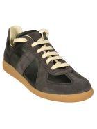 Maison Margiela Low-top Lace-up Sneakers - Black