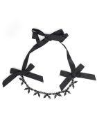 Simone Rocha Beaded Bow-detail Necklace - Jet