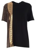 Versace Collection Printed T-shirt - Black