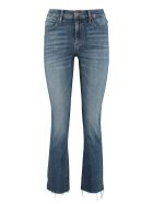 Mother The Rascal Frayed Slim Fit Jeans - Denim
