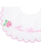 Blumarine White Bib For Babygirl With Roses - White