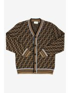 Fendi Ff Cardigan - Marrone