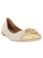 Tory Burch Minnie Cap-toe Ballet - Dulce de leche/gold