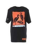 HERON PRESTON Heron Tshirt - Off black