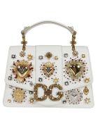 Dolce & Gabbana Heart Embellished Tote - White