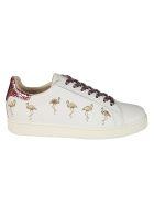 M.O.A. master of arts Moa Flamingo Glitter Sneakers - white