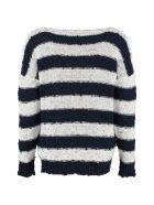 Fabiana Filippi Striped Cotton Sweater - Multicolor