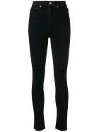 RE/DONE Ankle Crop Jeans - BLACK DESTROY (Black)