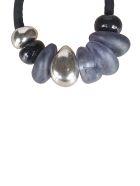 Maria Calderara Assorted Design Necklace - Black/Silver