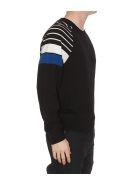 Michael Kors Striped Turtleneck Sweater - Black