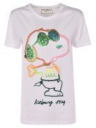 Iceberg Embroidered Snoopy T-shirt - White