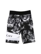 Givenchy Kids Floral Shorts - Nero/bianco