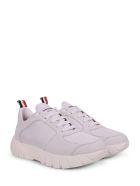 Thom Browne White Running Shoes - White