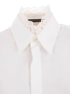 Y's Shirt L/s Collar Lace - White