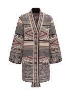 Etro Ikat Cardigan  In Silk And Wool - Beige