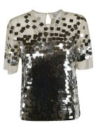 Ermanno Scervino Sequined Top - Silver