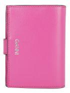 Ganni Wallet - Shocking pink