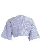 Marques'Almeida Tie Front Cropped Top - Blue Stripe