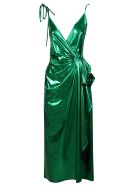 The Attico Fan Long Dress - Emerald