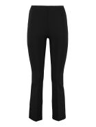 Jucca Flared Viscose Trousers - black
