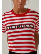 Fiorucci Short Sleeve T-Shirt - Red/white