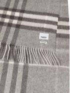 Burberry Checked Scarf - Pale Grey