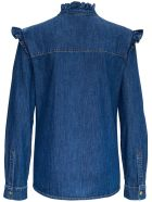 Philosophy di Lorenzo Serafini Denim Shirt With Ruffles - Blu