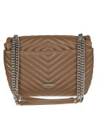Rebecca Minkoff Borsa Edie Flap Pebble - Earth