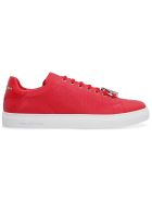 Philipp Plein Leather Low-top Sneakers - red
