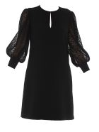 Givenchy Dress With Lace Sleeves - Black