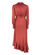Zimmermann Espionage Silk Wrap-dress - burnt