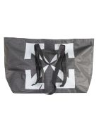 Off-White Arrow Pvc Tote - Black/White