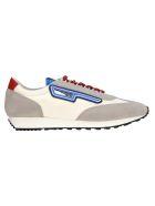 Prada Prada Suede And Nylon Sneaker - GREY - LIGHT BLUE
