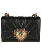 Dolce & Gabbana Logo Plaque Mini Shoulder Bag - black