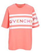 Givenchy 4g Embroidered Oversized T-shirt - PINK WHITE