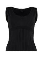 Pinko Bunkai Ribbed Knit Top - black