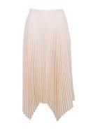 Tory Burch 'sunburst' Polyester Skirt - New Ivory