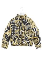 Young Versace 'barocco' Jacket - Black