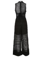 self-portrait Embroidered Jumpsuit - Black