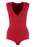 Elisabetta Franchi Celyn B. Sleeveless Bodysuit - red
