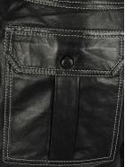 Ganni Leather Shorts - BLACK