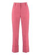Brunello Cucinelli Cotton-blend Straight-leg Trousers - Fuchsia